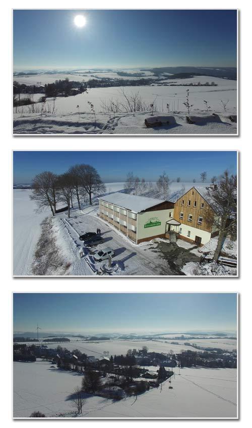 Winterurlaub im Erzgebirge in der Dittersdorfer Höhe.
